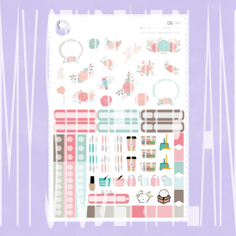 Deco and Functional Sticker Sheet | D&F#4
