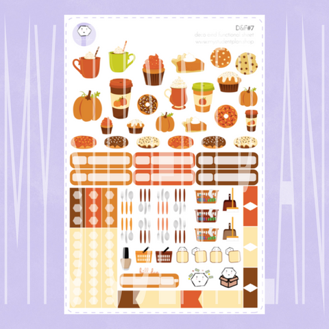 Fall Deco and Functional Sticker Sheet | D&F#7