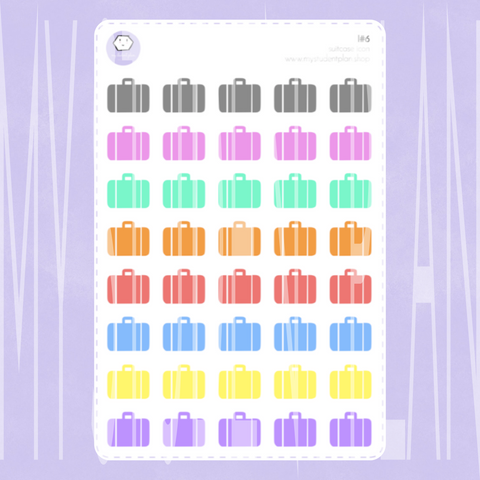 Suitcase Icon Stickers | I#6