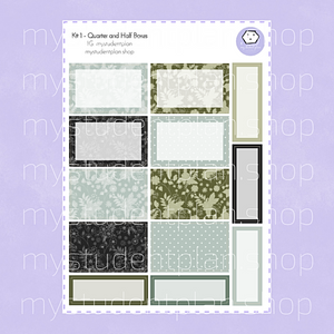Half Boxes and Quarter Boxes Stickers | Kit#1