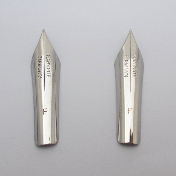 Set of 2 Kanwrite 35 mm No.6 Fountain Pen Fine (F) FLEX Nibs
