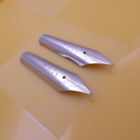 Set of 2 Kanwrite 35 mm No.6 Fountain Pen Fine (F) Nibs