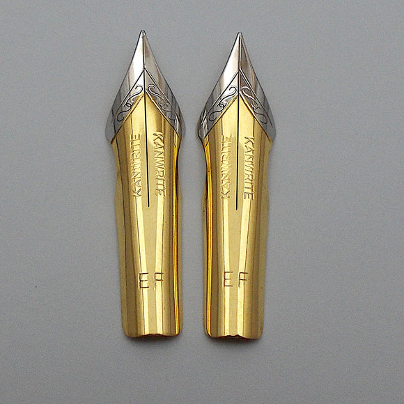 Set of 2 Kanwrite No.6 (35 mm) EF Ultra Flex Fountain Pen Nibs - TTF