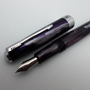 Wality/Airmail 55 Eyedropper Fountain Pen with Kanwrite Semi Flex Nib - Purple