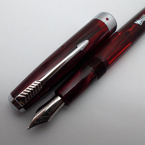 Wality/Airmail 55 Eyedropper Fountain Pen with Kanwrite Semi Flex Nib - Wine Red