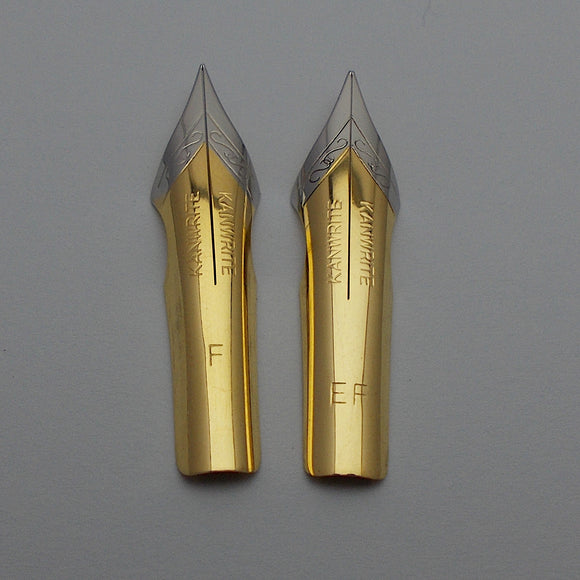 Set of 2 Kanwrite No.6 35mm One Fine (F) & One Ex.Fine (EF) Ultra Flex Fountain Pen Nibs - TTF