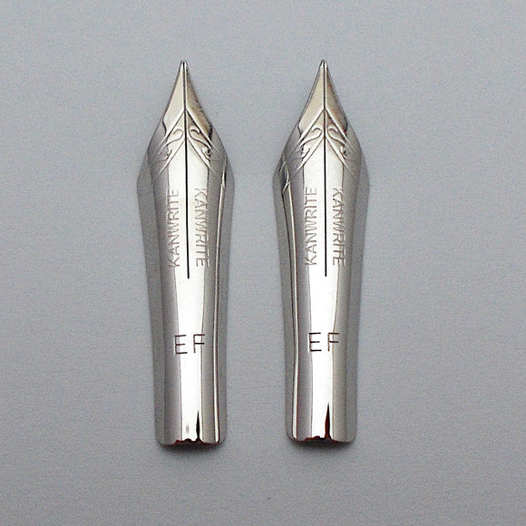 Set of 2 Kanwrite No.6 35mm  Extra Fine (EF) FLEX Fountain Pen Nibs - SSF