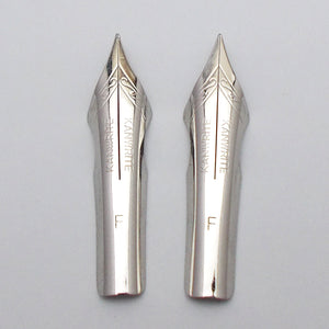 Set of 2 Kanwrite No.6 35mm Fine (F) Ultra Flex Fountain Pen Nibs - SSF