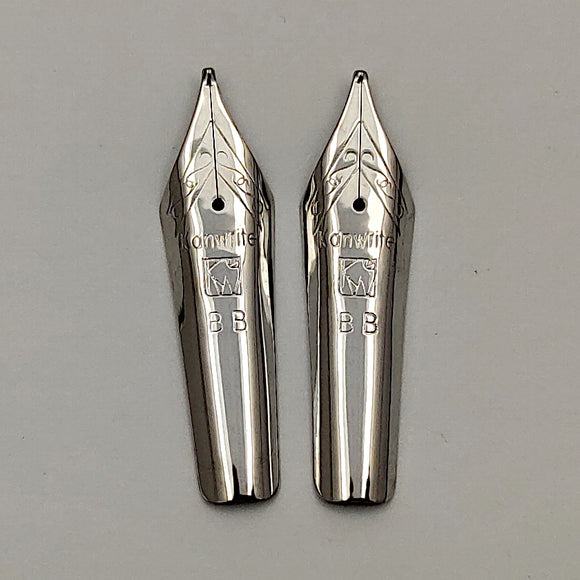 Set of 2 Kanwrite No.6 35mm Double Broad (BB) Fountain Pen Nibs - SSF