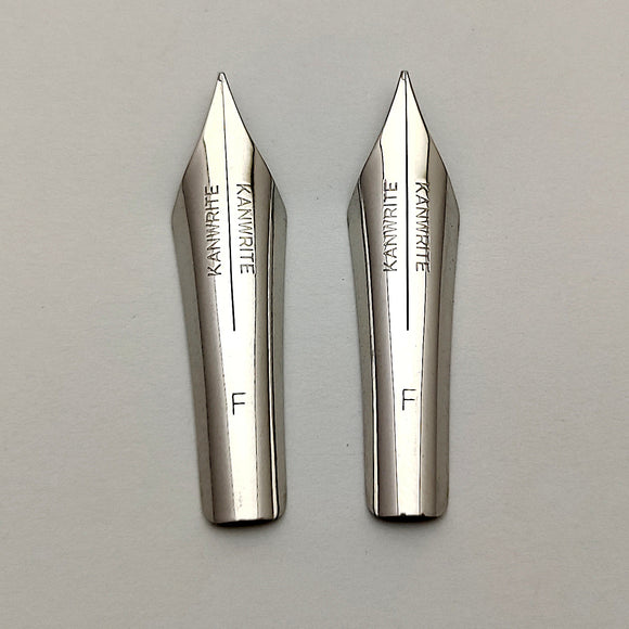 Set of 2 Kanwrite No.6 35mm Fine (F) Flex Fountain Pen Nibs - SSF