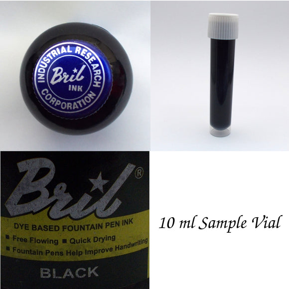 Bril Black Fountain Pen Ink - 10 ml Sample Vial