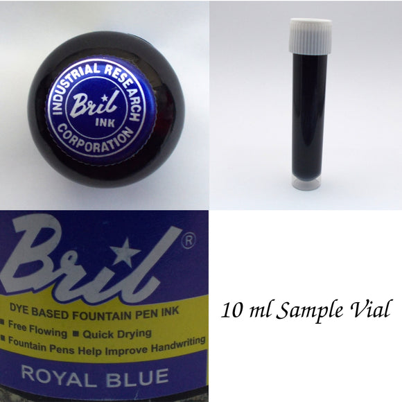 Bril Royal Blue Fountain Pen Ink - 10 ml Sample Vial