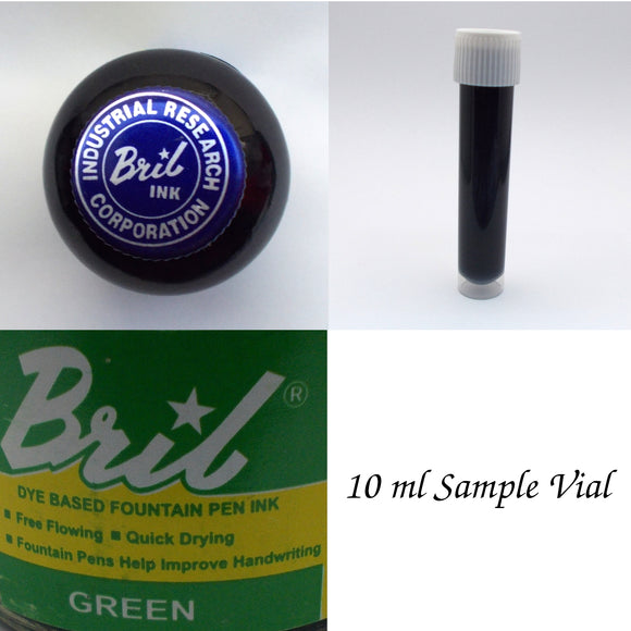 Bril Green Fountain Pen Ink - 10 ml Sample Vial