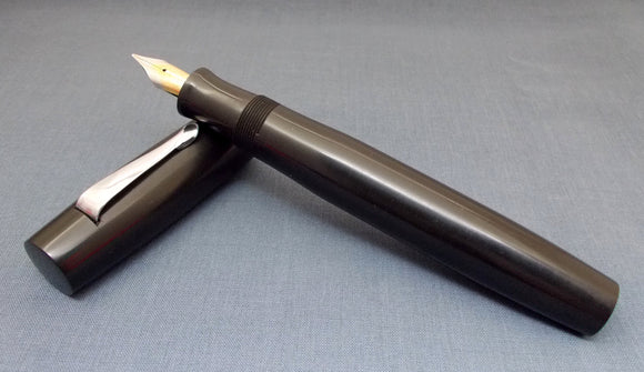 KIM ACR Handmade Indian Ebonite 139 Fountain Pen- Solid Black