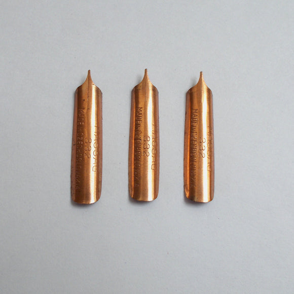 Vintage MASSAG No. 332 Dip Pen Nibs - Set of 3