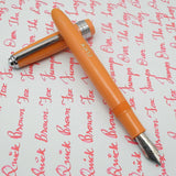Click Falcon Eyedropper Fountain Pen with Cursive Italic (CI) Nib -Pastel Orange