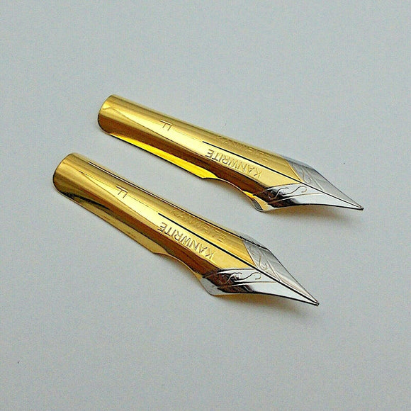 Set of 2 Kanwrite No.6 (35 mm) F Ultra Flex Fountain Pen Nibs
