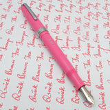 Click Falcon Eyedropper Fountain Pen with Cursive Italic (CI) Nib -Pastel Pink