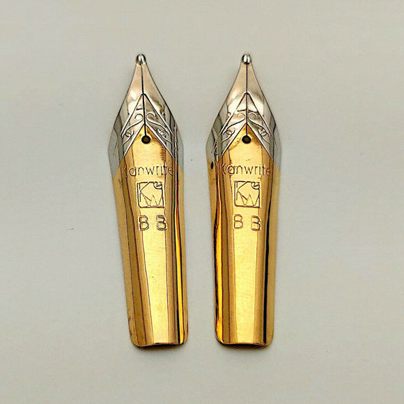 Set of 2 Kanwrite No.6 (35 mm) Double Broad (BB) Fountain Pen Nibs