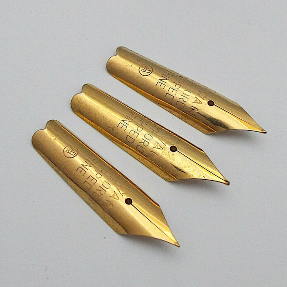 Set of 3 Vintage Swan (Ambitious) No.8 Fountain Pen Nibs