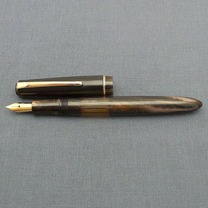 Click Blackbird Eyedropper Fountain Pen with Vintage Blackbird Nib - BlackMarbld