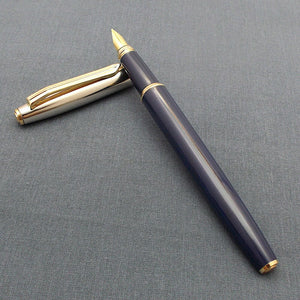 V'Sign Stride Dark Blue Fountain Pen with with 3-in-1 Filling System