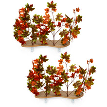 Load image into Gallery viewer, Interchangeable Leaves Curved Cat Canopy (Set of Two), Mixed Maple