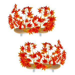 Interchangeable Leaves Curved Cat Canopy (Set of Two), Orange Blaze