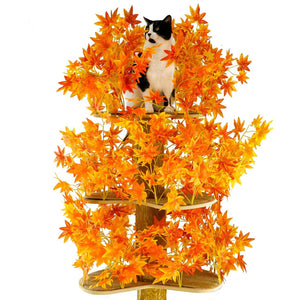 Large Square Luxury Cat Tree Fall