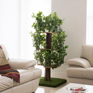 Large Square Luxury Cat Tree Evergreen