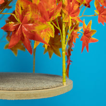 Load image into Gallery viewer, 5ft Interchangeable Leaves Cat Tree Square Base, Orange Blaze