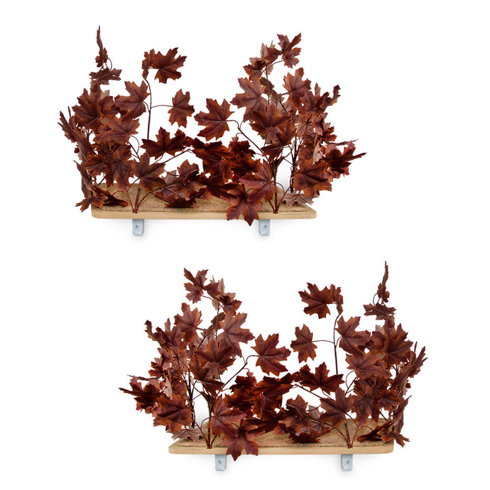 Interchangeable Leaves Rectangular Cat Canopy (Set of Two), Deep Plum