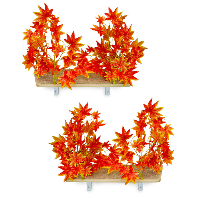 Interchangeable Leaves Rectangular Cat Canopy (Set of Two), Orange Blaze