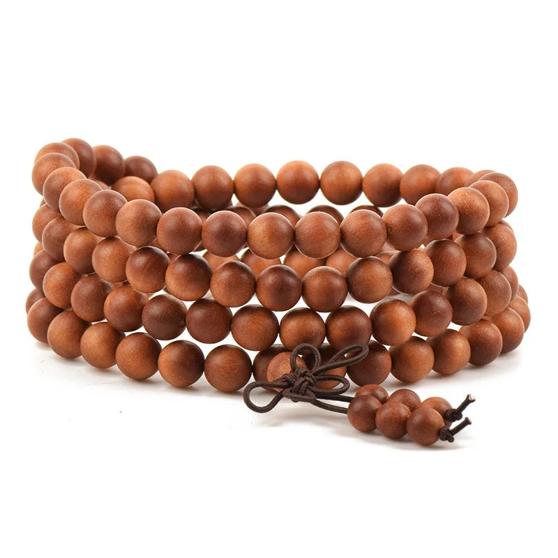108 Sandalwood Mala Wrap Bracelet/Necklace- 8mm