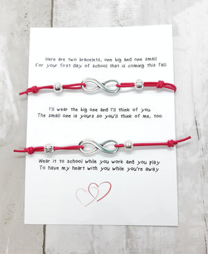 Mommy and Me First Day of School Bracelet Set