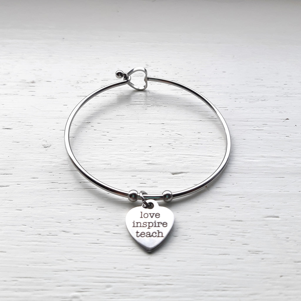 Love, Inspire, Teach Bangle