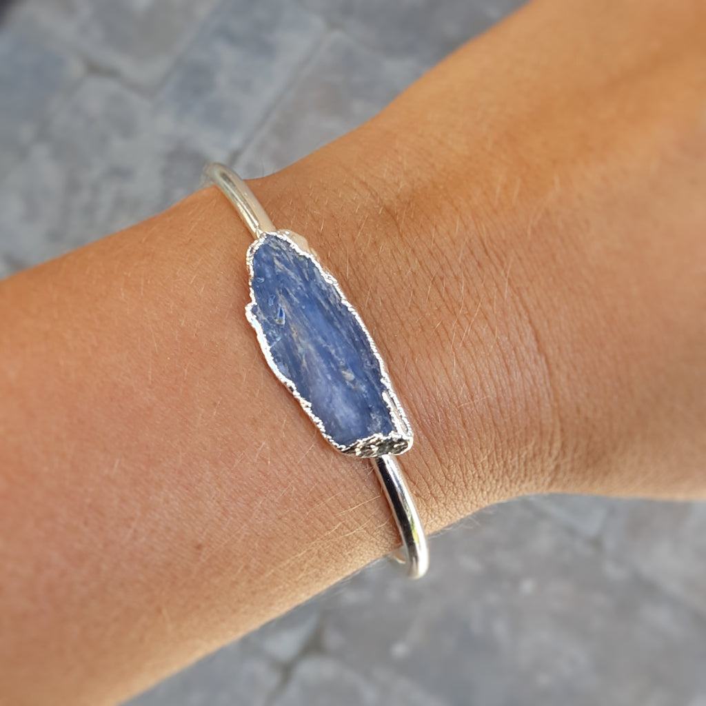 Raw Kyanite Cuff Bracelet