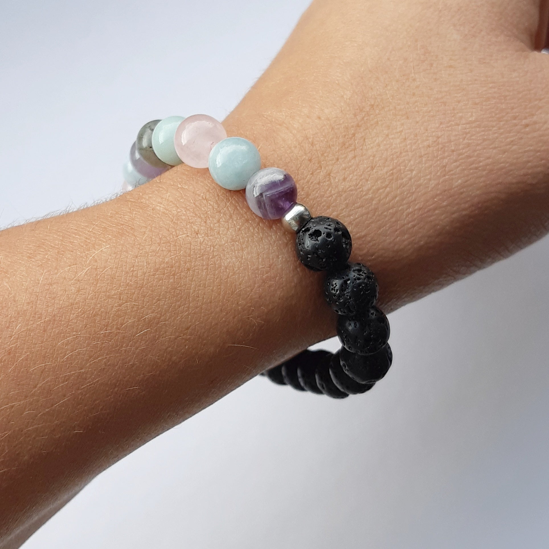 Calming Diffuser Bracelet and Oil Set- Gift for Stress