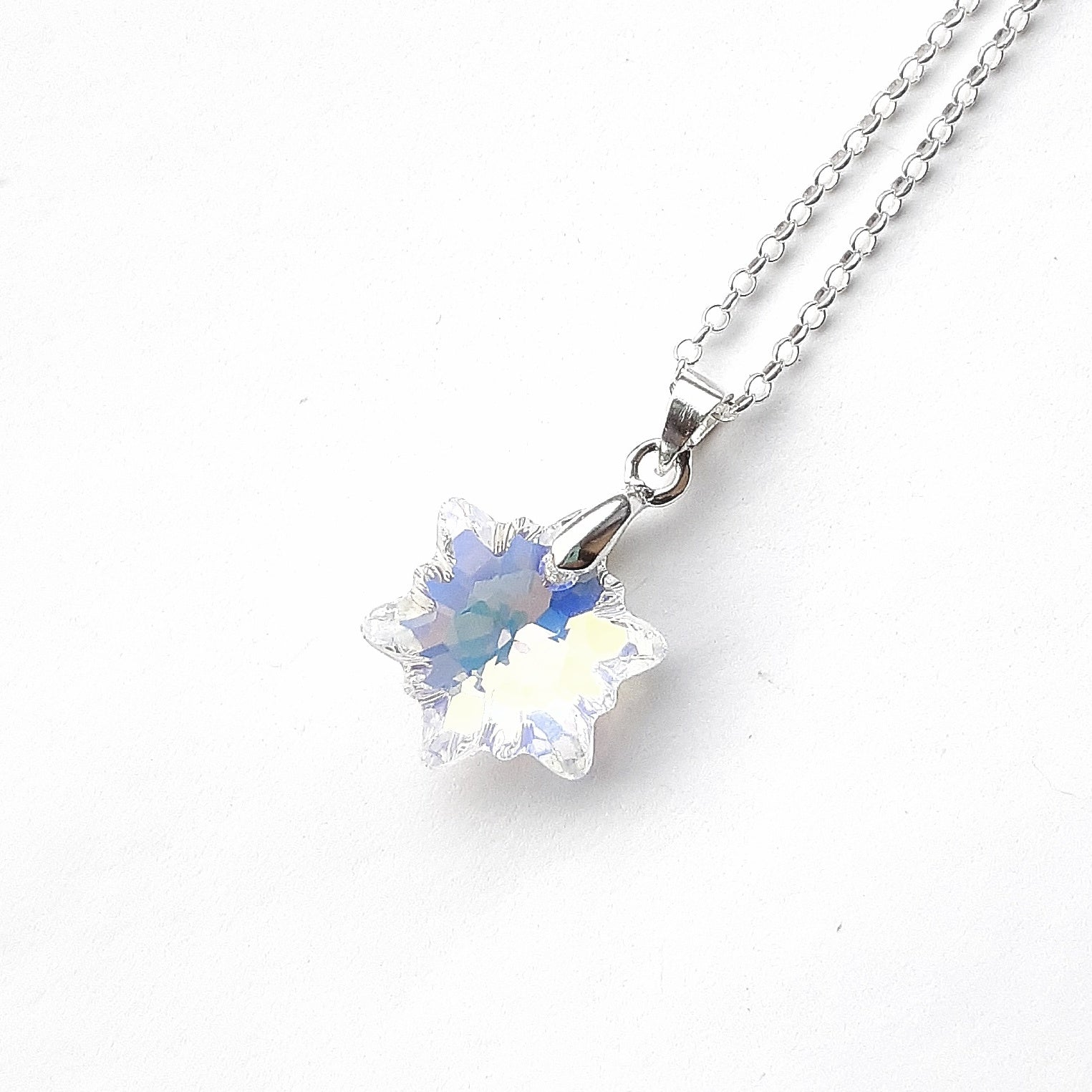 Swarovski Crystal Snowflake Necklace