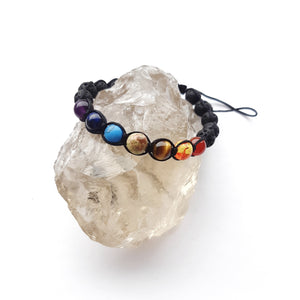 Chakra and Lava Adjustable Cord Bracelet- Unisex