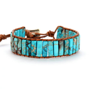 Sea Sediment Jasper Tube Bracelet