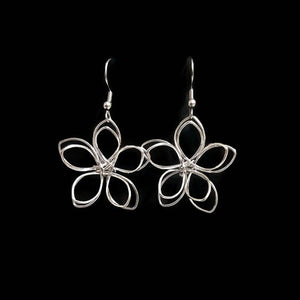 Wire Wrapped Flower Earrings