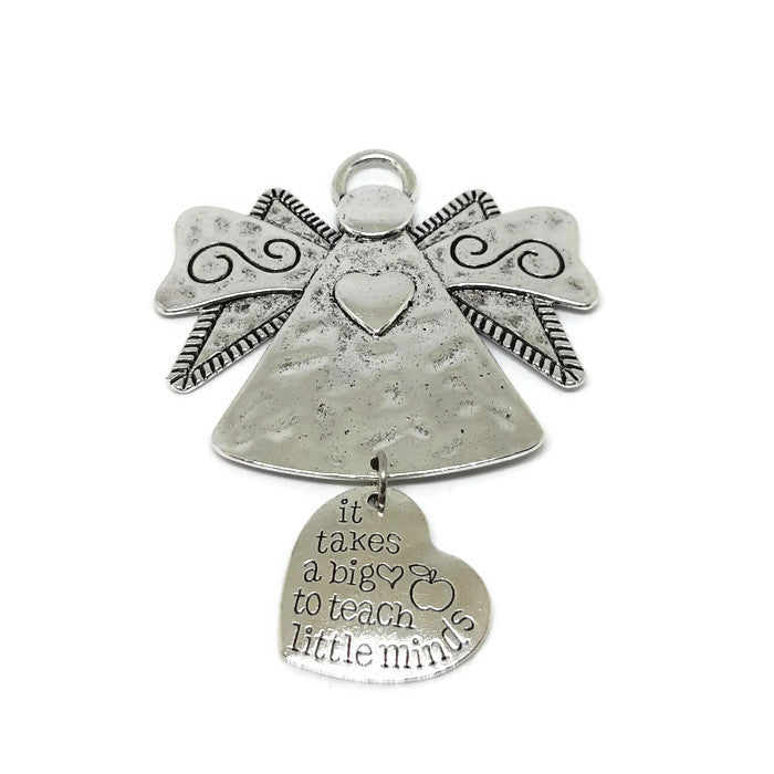 It Takes A Big Heart To Shape Little Minds Angel Ornament