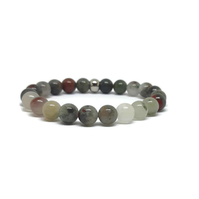 African Blood Stone Stretch Bracelet