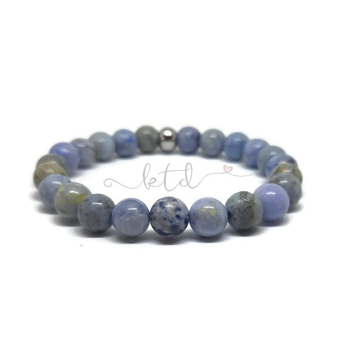 Blue Crazy Agate Stretch Bracelet