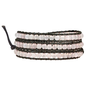Rose Quartz Tripple Wrap Bracelet
