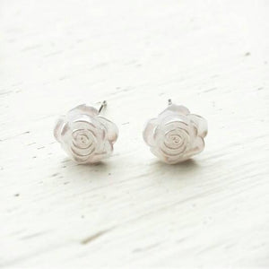 Flower Girl Gift- Pearl Rose Studs