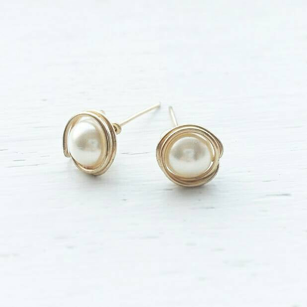 Swarovski Pearl Stud Earrings
