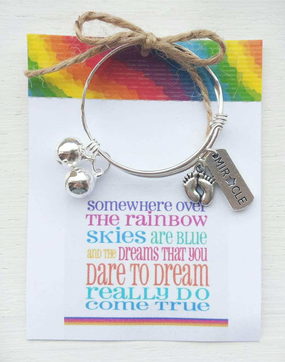 Rainbow Baby Keepsake Baby Bangle