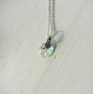 Swarovski Crystal Heart Necklace for Mom